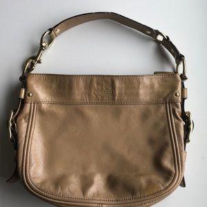 Coach Zoe Patent Leather Bag tan/fawn